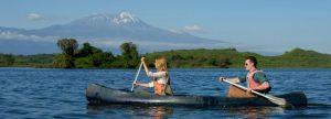 Canoeing Arusha National Park Tanzania
