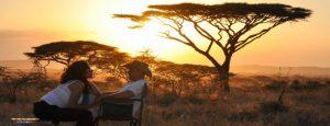 Honeymoon couple safari Serengeti